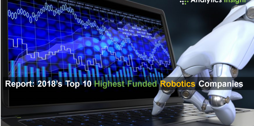 Report: 2018's Top 10 Highest Funded Robotics Companies