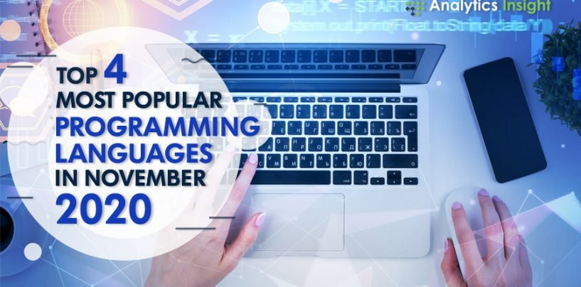 Top 4 Most Popular Programming Languages in November 2020